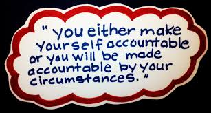 Accountable saying