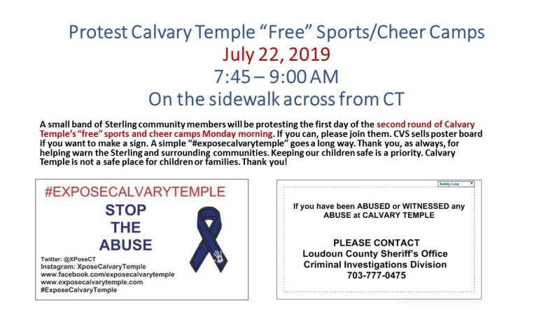 Protest Calvary Temple 2019